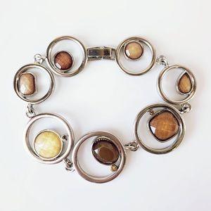 Lia Sophia Round Circle Silver tone Bracelet
